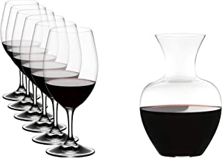 [正規品] RIEDEL リーデル 赤ワイン グラス + デカンタ オヴァチュア マグナム 350ml 6個+デカンタ アップル 1500ml 1個 5408/35