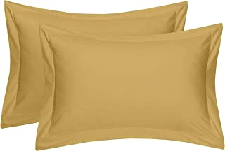 RJ Products™ Plain 100 % Cotton Pillow Cover -King Size Beige Color