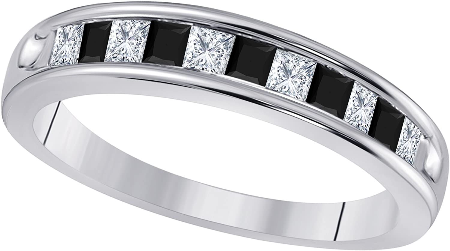 Sterling Silver Plated Our shop Max 61% OFF most popular 1 2 Ct Cut CZ Diamond Simulated Princess