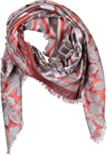 Forte Women's Cashmere Blend Patchwork Print Scarf Pink- OS