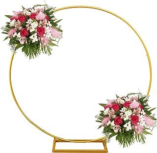 DYJD Mariage en Fer forgé Mariage Rond Fond Arc décoration scène Arc Arche arrière Fond extérieur Cadre fête fête Mariage ...