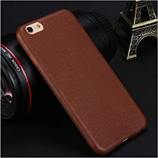 Fashion Leather Pattern Phone Cases for iPhone 11 Pro Max Xs X XR Case 5 5S SE 6 6S 7 8 Plus Cases Cover Soft Silicone TPU Back,for iPhone 5 5S SE,Brown