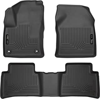 Husky Liners 98991 Fits 2016-20 Toyota Prius, 2017-20 Toyota Prius Prime Weatherbeater Front & 2nd Seat Floor Mats , Black