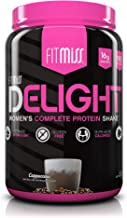 FitMiss Delight Protein Powder, Healthy Nutritional Shake for Women, Whey Protein, Fruits, Vegetables and Digestive Enzymes, Support Weight Loss and Lean Muscle Mass, Cappuccino, 2 Pound