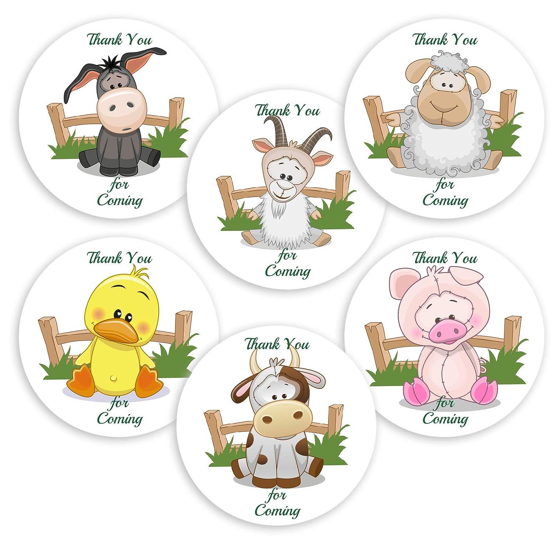 40 Ranking TOP20 Farm Animal Baby Shower Labels Birthday Award You Stic Round Thank