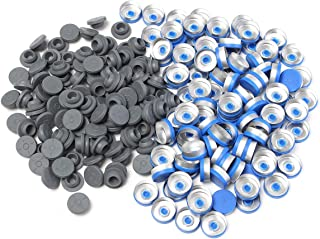 100Pcs 20MM Sealing Bottle Caps Rubber Stopper Blue Aluminum Plastic Cover - Tools, Industrial & Scientific Hardware & Accessories - 100 x Rubber Stoppers