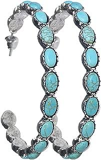 Turquoise Bohemian Metal Hoop Fashion Earring