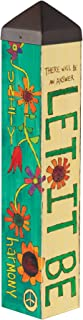 Studio M Let it Be Art Pole Lennon and McCartney Lyrics Outdoor Decorative Garden Post, Made in USA, 20 Inches Tall