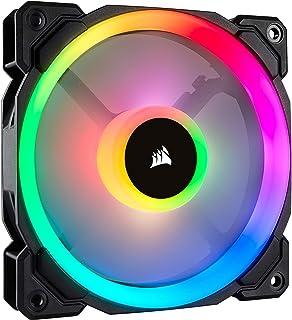 Corsair LL120 RGB Ventilador de PC (120 mm, Doble Halo RGB LED PWM) Paquete Soltero