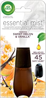 Air Wick Essential Oils Diffuser Mist Refill, Sweet Melon & Vanilla, 1ct, Air Freshener
