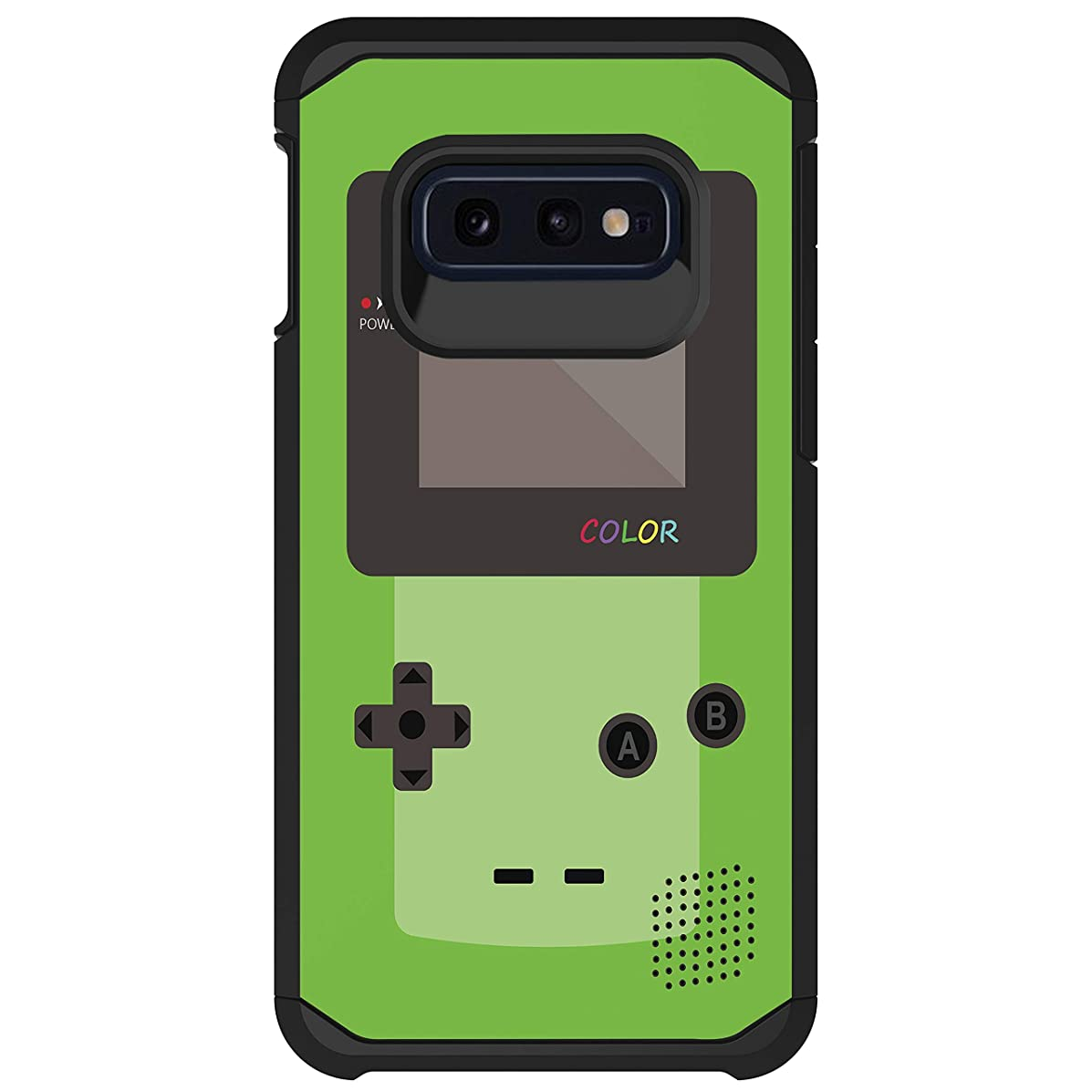 MINITURTLE Slim Fitted Dual Layer Protective Case Compatible with Samsung Galaxy S10e G970U [Samsung Galaxy S10 Lite Phone Case] - Green Gameboy