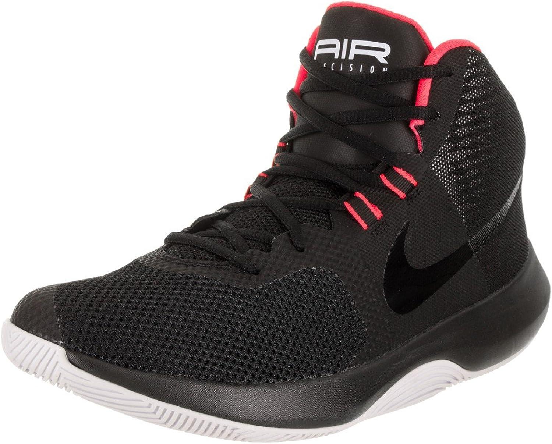 Nike Men's Air Precision schwarz schwarz Solar rot Weiß Basketball schuhe 11 Men US