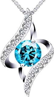 Swarovski Elements 925 Sterling Silver Necklace The Eye of the Lover for Women Gift Jewelry JR681