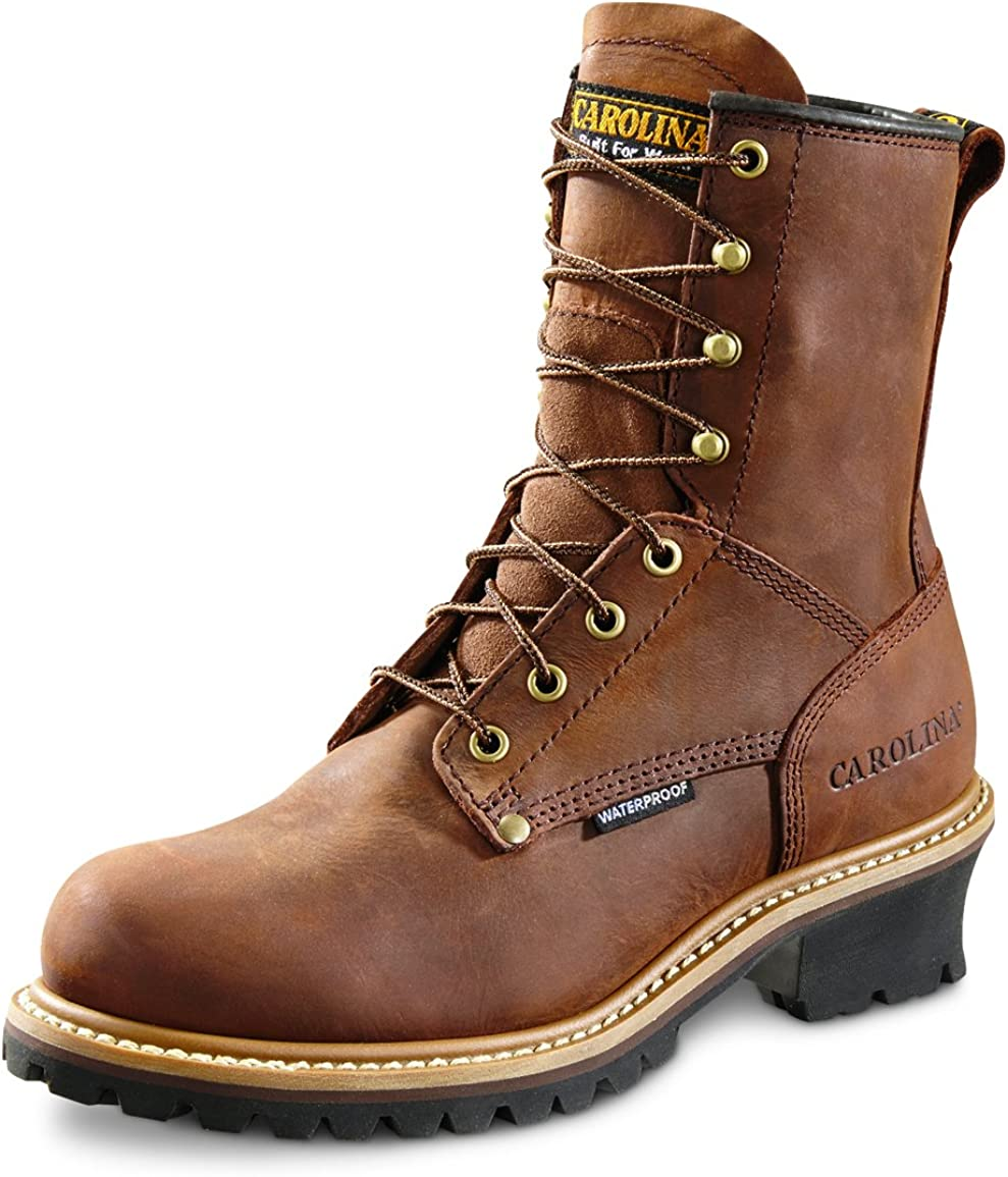 8 Inch Waterproof Logger Boots CA8821
