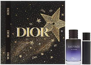 Sauvage by Christian Dior for Men 2 Piece Set Includes: 3.4 oz Eau de Parfum Spray + 0.34 oz Eau de Parfum Travel Spray