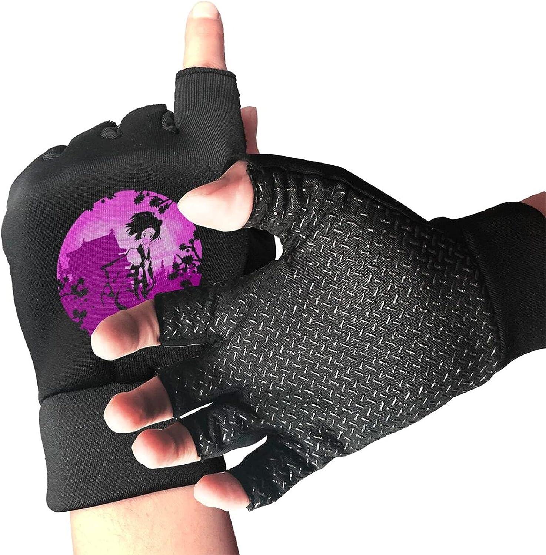 Samurai Champloo Fan Knitted Mittens Gloves Stretchy Warmer Fingerless Non Slip Gloves For Unisex