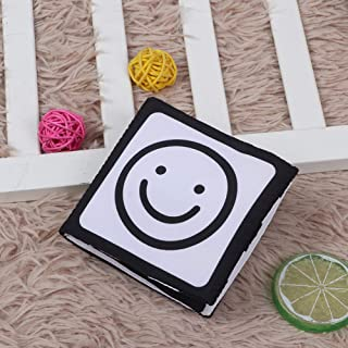 Baby Cloth Books, 3D Soft Fabric Activity Books Washable Crinkle Cloth Book for Babies Early Education Learning Toys 0-3 Y...