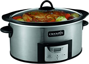 Crock-Pot SCCPVI600-S 6-Quart Countdown Programmable Oval Slow Cooker with Stove-Top..