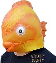 CreepyParty Deluxe Novelty Halloween Costume Party Latex Head Goldfish mask