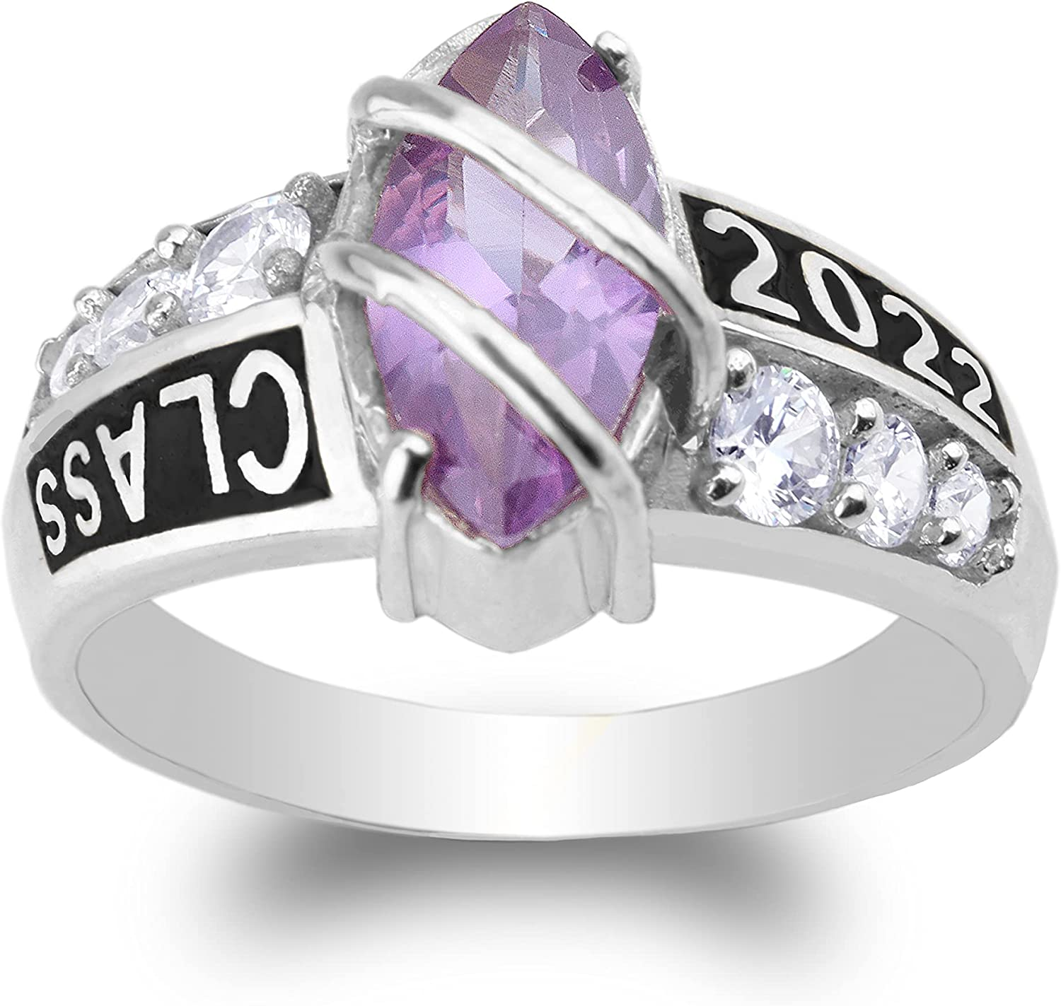 low-pricing JamesJenny 925 Sterling Silver Class of Ring 2022 wit Graduation Very popular