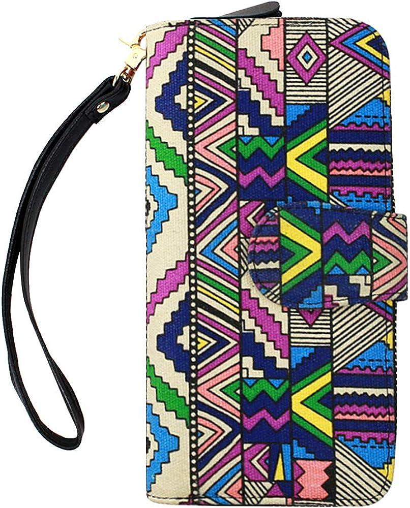 Women Ranking TOP2 Girls Bohemian Style shopping Wristlet Floral Clutch Wallet Pattern
