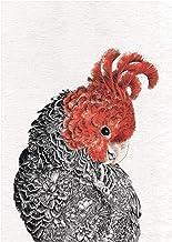 Maxwell & Williams Marini Ferlazzo Birds theedoek, bedrukt, gangen, cacadu, 100% katoen, 50 x 70 cm, zwart/wit
