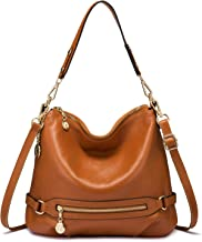 Genuine Leather Handbags for Women Large Designer Ladies Shoulder Bag Bucket Style