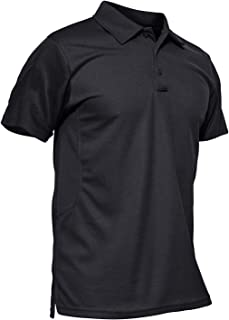 KEFITEVD Men's Outdoor Breathable Polo Shirts Quick Dry Short Sleeve Safari Camping Tops