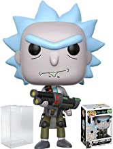 RICK AND MORTY Funko Pop! Animation Weaponized Rick Vinyl Figure (Bundled with Pop Box Protector CASE)