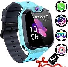 Reloj Inteligente para Niños [Tarjeta SD Incluida],Smart Watch con Reproductor de MúSica Con SOS Llamada Cámara 7 Juegos Y Reproductor de MúSica, Reloj de Pulsera Digital para Niños De 3-12 Años