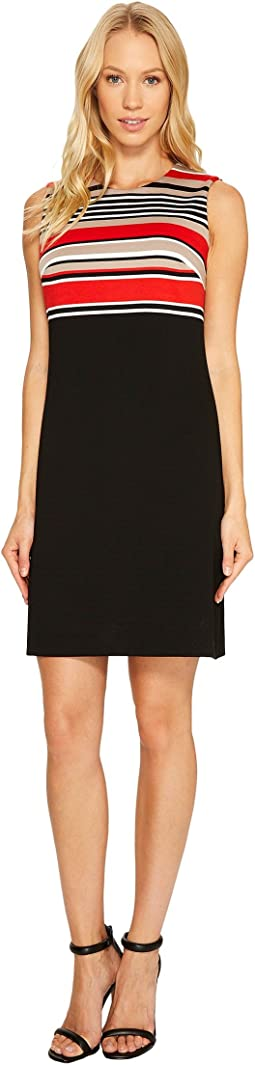 Calvin Klein - Stripe Bodice Sheath Dress