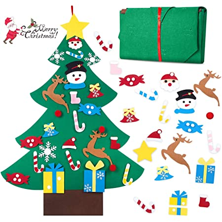 b//a ZipChic 3D Childrens DIY Christmas Tree Stickers Ornaments Xmas Gifts for Kids Home Decorations