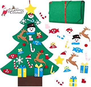 hblife Felt Christmas Tree, 3ft DIY Christmas Decorations Clearance with 26 Pcs Ornaments..