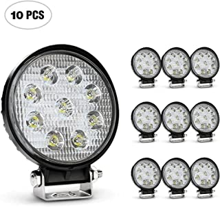 Nilight 4.5 Inch Round 27W Spot LED Work Light Fog Light Waterproof Offroad Driving Led light for Jeep SUV Boat Truck ATV Car, 2 year Warranty (10 pack)