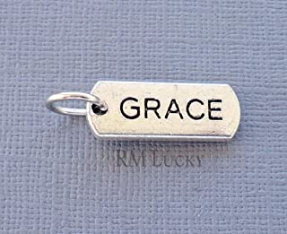Pendant Jewelry Making Tag Dangle Charm Pendant Word Fit Floating Living Locket, European Bracelet Grace