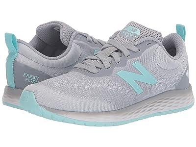 New Balance Kids Fresh Foam Arishi v3 (Little Kid/Big Kid) (Silver Mink/Bali Blue) Girls Shoes