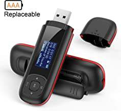 AGPTEK U3 USB Stick Mp3 Player, 8GB Music Player Supports Replaceable AAA Battery,..