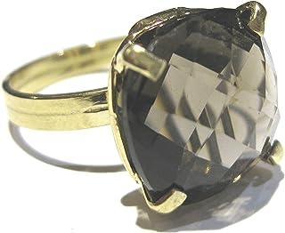 anillo Cuarzo ahumado Oro 750% (18 k)