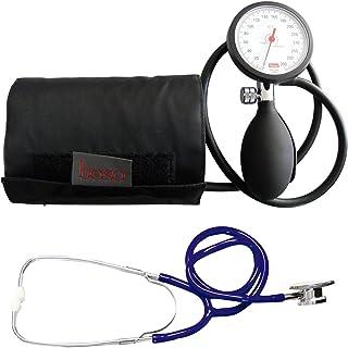Tiga-Med - Tensiómetro de brazo con estetoscopio de doble cabezal, color azul