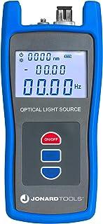 Jonard Tools FLS-50 Fuente de luz de fibra óptica con adaptadores FC/SC/LC incluidos para mediciones de fibra de modo único