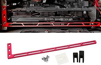 CloverTale Graphics Card GPU Brace Support, Video Card Sag Holder Bracket, Anodized Aerospace Aluminum (Upgraded Version Red)