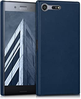kwmobile Case Compatible with Sony Xperia XZ Premium - Soft Durable Shockproof PU Leather Smartphone Cover - Dark Blue