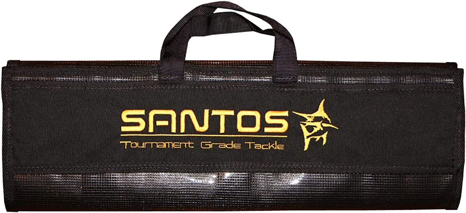 Santos Tournament Grade Tackle Offshore Big Game 6 Pocket Lure Bag with 20 x 8Inch Pockets, Large