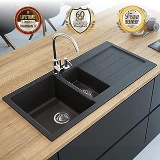 Black Kitchen Sink Lavello Decoro 150LT 39