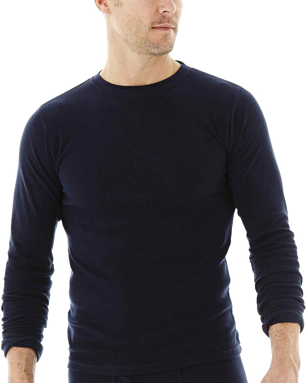 St. John's Bay Men's Thermal Underwear Shirt Tops Base Layer Long Johns Crew Neck T-Shirt Cut