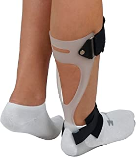 ORTONYX Ankle-Foot Orthosis Swedish AFO Foot Drop Support Brace - Right Large White