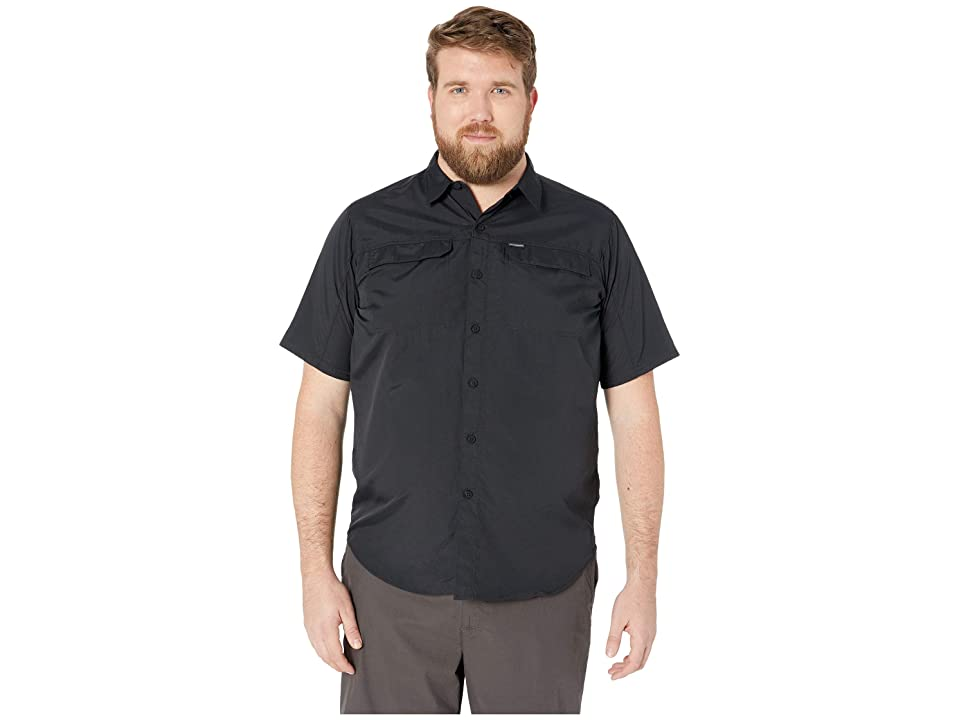 Image of Columbia Big and Tall Silver Ridge 2.0 Short Sleeve Shirt (Black) Men's Short Sleeve Button Up