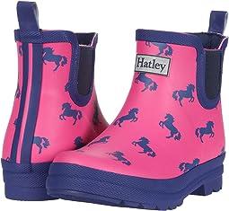 Playful Ponies Ankle Rain Booties (Toddler/Little Kid)