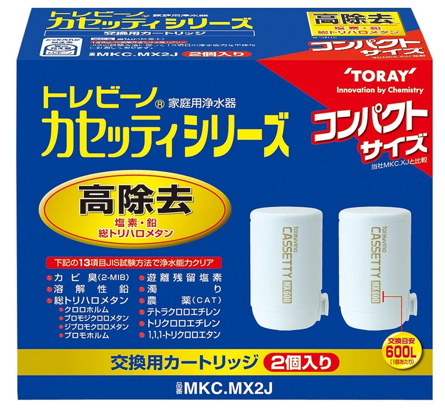 灰乱用ヘビ東レ 浄水器 トレビーノ カセッティシリーズ 交換用カートリッジ 13項目除去コンパクトサイズ 2個入り MKC.MX2J