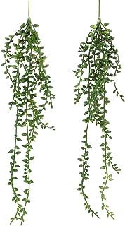 Meneco Artificial Hanging Succulent Plants – 2 Pack String of Pearls Plant Artificial Hanging Plants Unpotted Faux Plants ...
